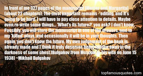 Quotes About Bulgakov