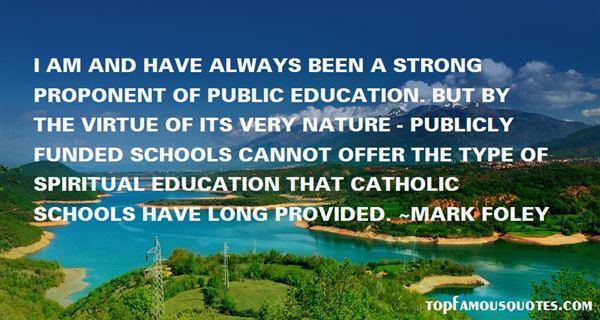 Quotes About Catholic Schools
