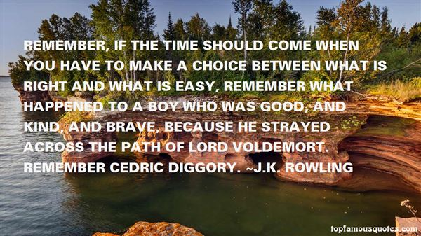 Quotes About Cedric