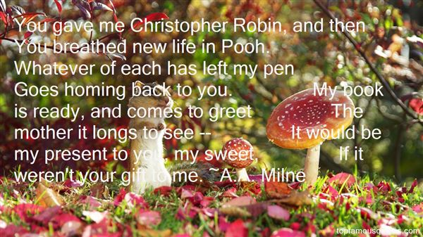 ... Robin And Pooh Quotes: best 5 quotes about Christopher Robin And Pooh