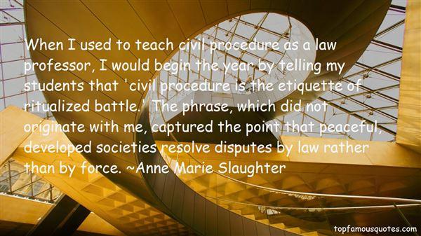 Quotes About Civil Procedure