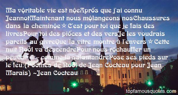 Quotes About Cocteau
