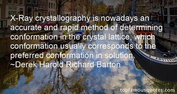 Quotes About Crystallography
