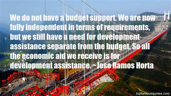 Quotes About Development Assistance