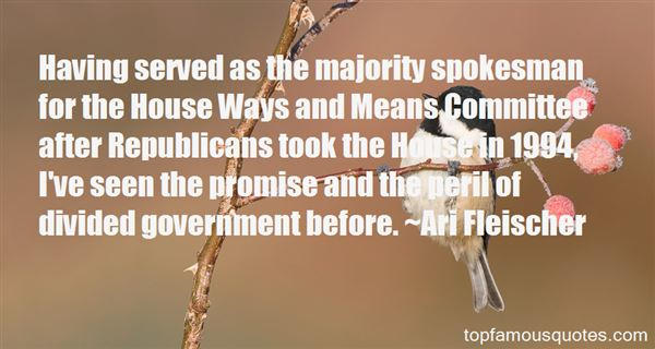 Quotes About Divided Government