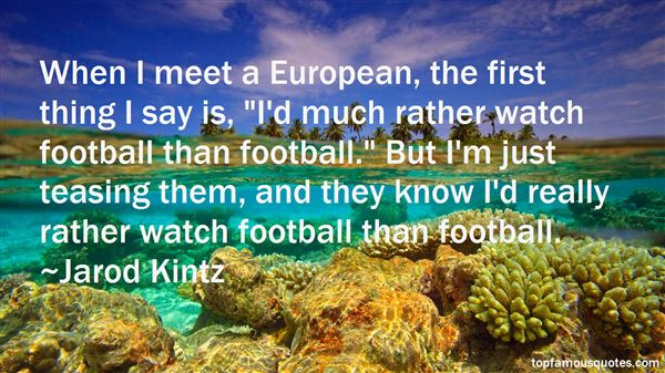 Quotes About European Football