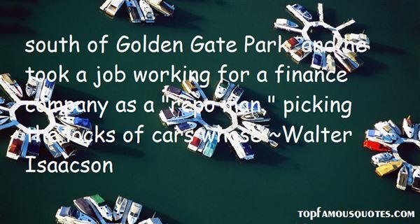 Quotes About Golden Gate Park