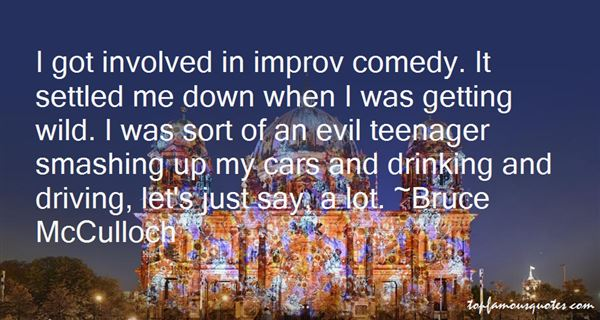 Quotes About Improv Comedy