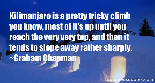 Quotes About Kilimanjaro