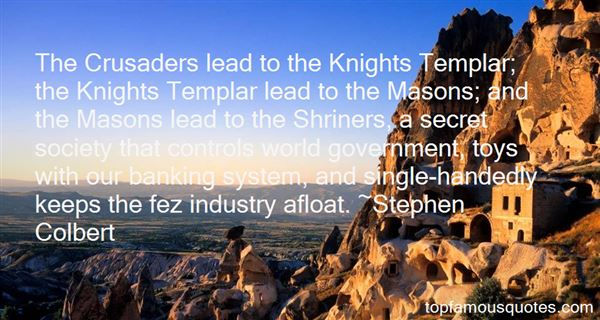 Quotes About Knights Templar