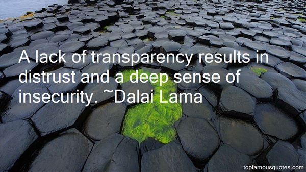 Quotes About Lack Of Transparency