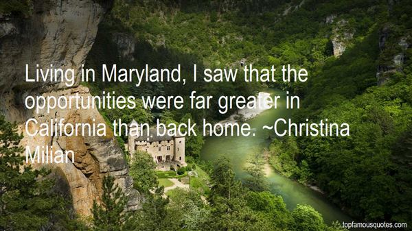 Quotes About Living In Maryland