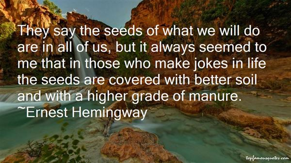 Quotes About Manure