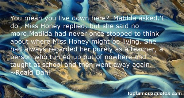 Quotes About Matilda School