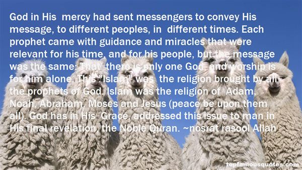 Quotes About Messenger Of God