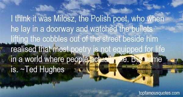 Quotes About Milosz