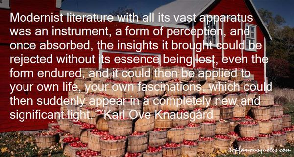 Quotes About Modernist Literature