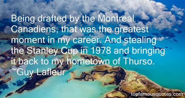 Quotes About Montreal Canadiens