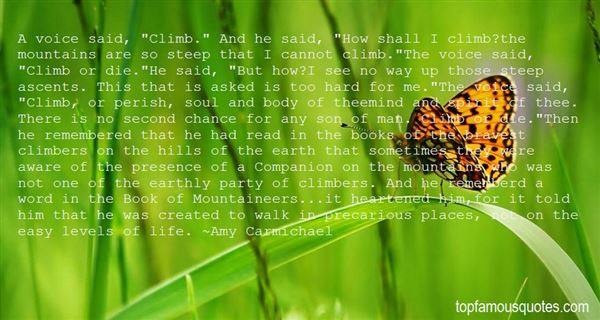 Quotes About Mountain Climbers