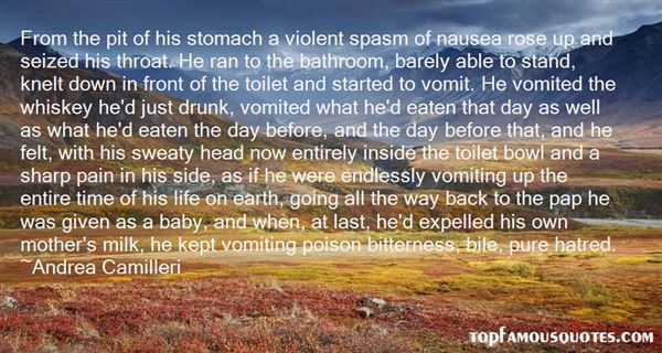Quotes About Nausea And Vomiting