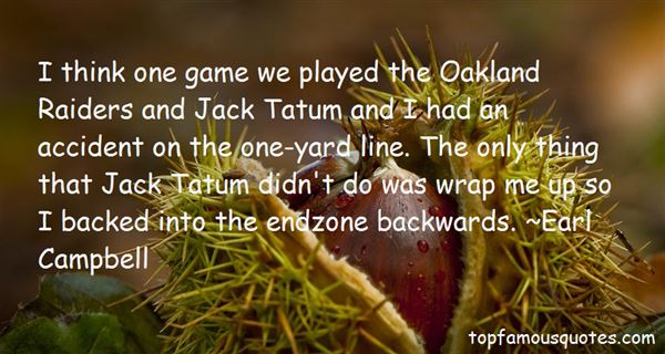 Quotes About Oakland Raiders