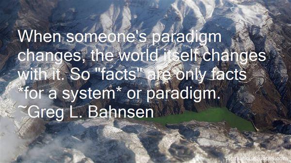 Quotes About Paradigm
