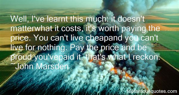 Quotes About Paying The Price
