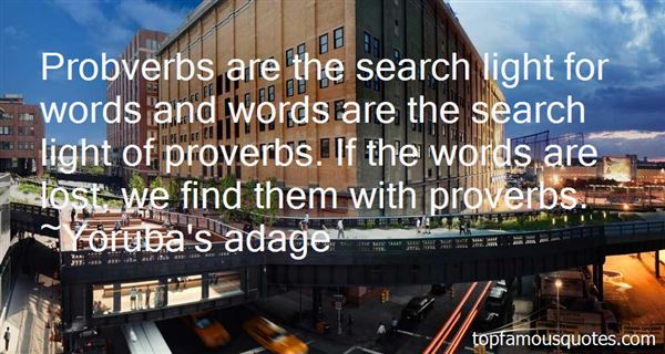 Quotes About Proverbs