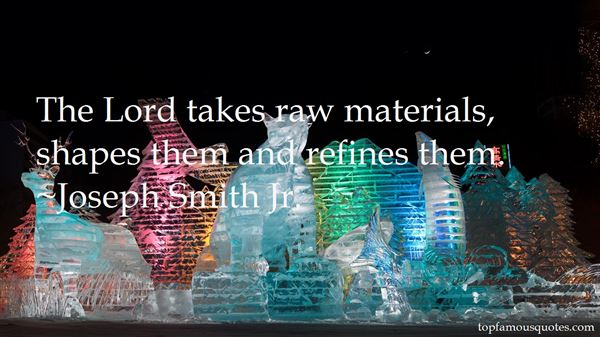 Quotes About Raw Materials