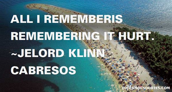 Quotes About Remembering
