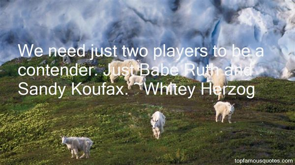 Quotes About Sandy Koufax