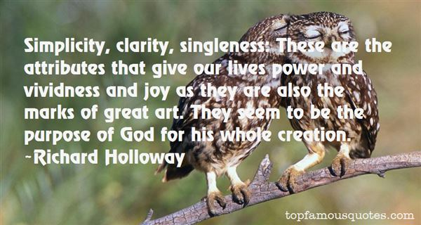 Quotes About Singleness Of Purpose