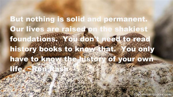 Quotes About Solid Foundations