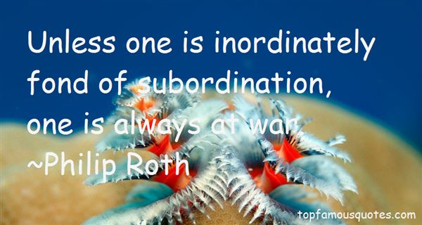 Quotes About Subordination