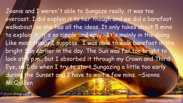 Quotes About Sun Gazing