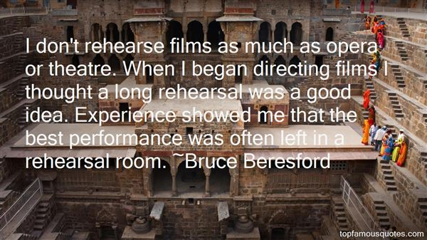 Quotes About Theatre Directing