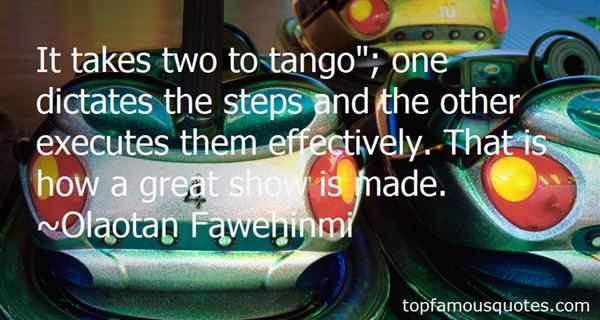 Quotes About Two To Tango