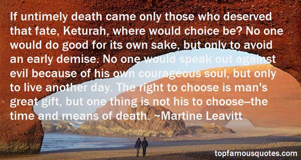 Quotes About Untimely Death