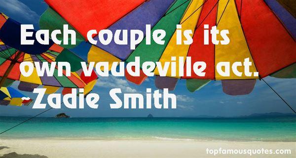 Quotes About Vaudeville