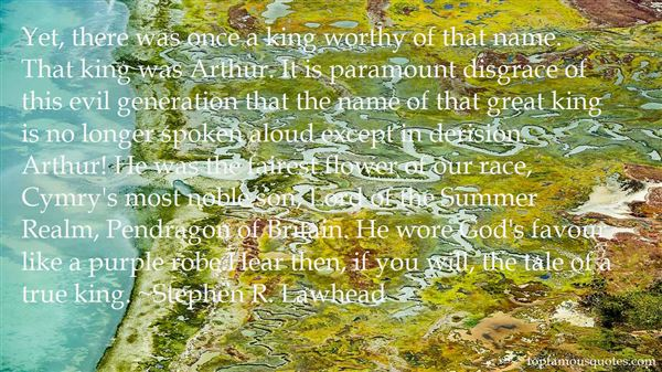 Quotes About Arthur Pendragon