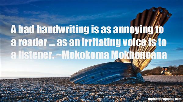 Quotes About Bad Handwriting