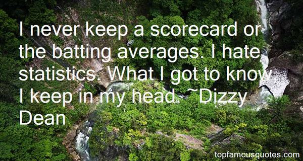 Quotes About Batting Average