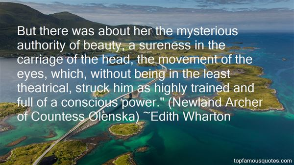 Quotes About Countess Olenska