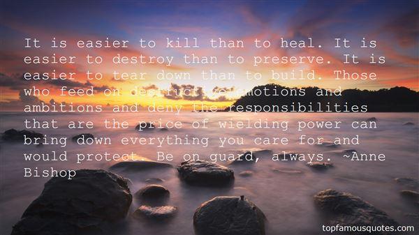 Quotes About Destructive Ambition