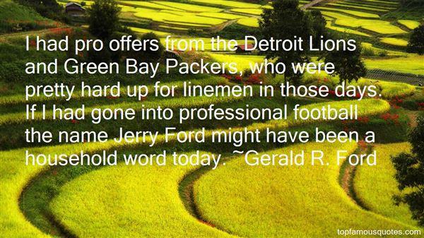 Quotes About Detroit Lions