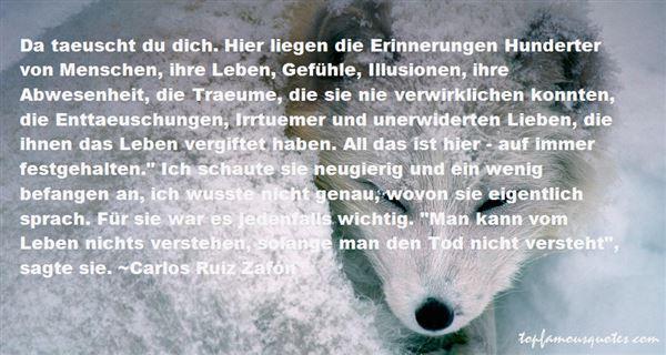 Quotes About Erinnerungen