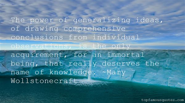 Quotes About Generalizing