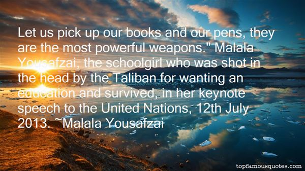 Quotes About Malala Yousafzai