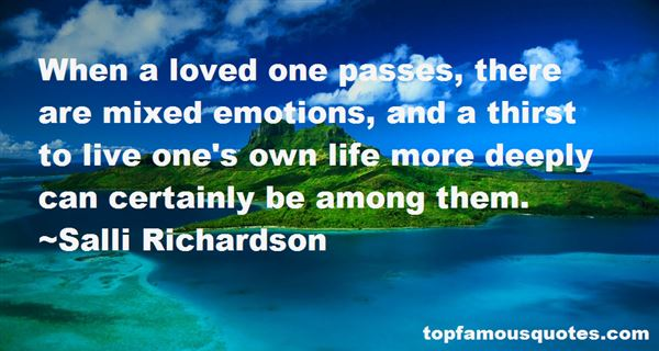 Quotes About Mixed Emotions