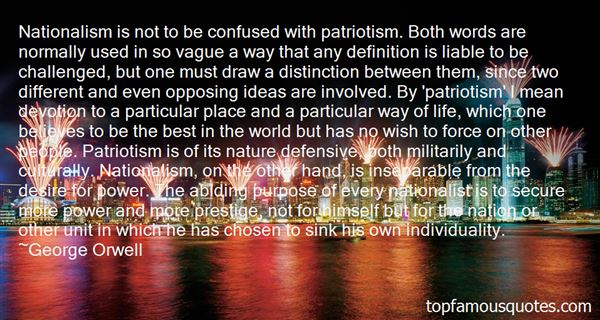 Quotes About Nationalism And Patriotism